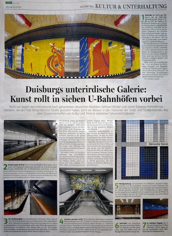 Duisburgs U-Bahnhöfe