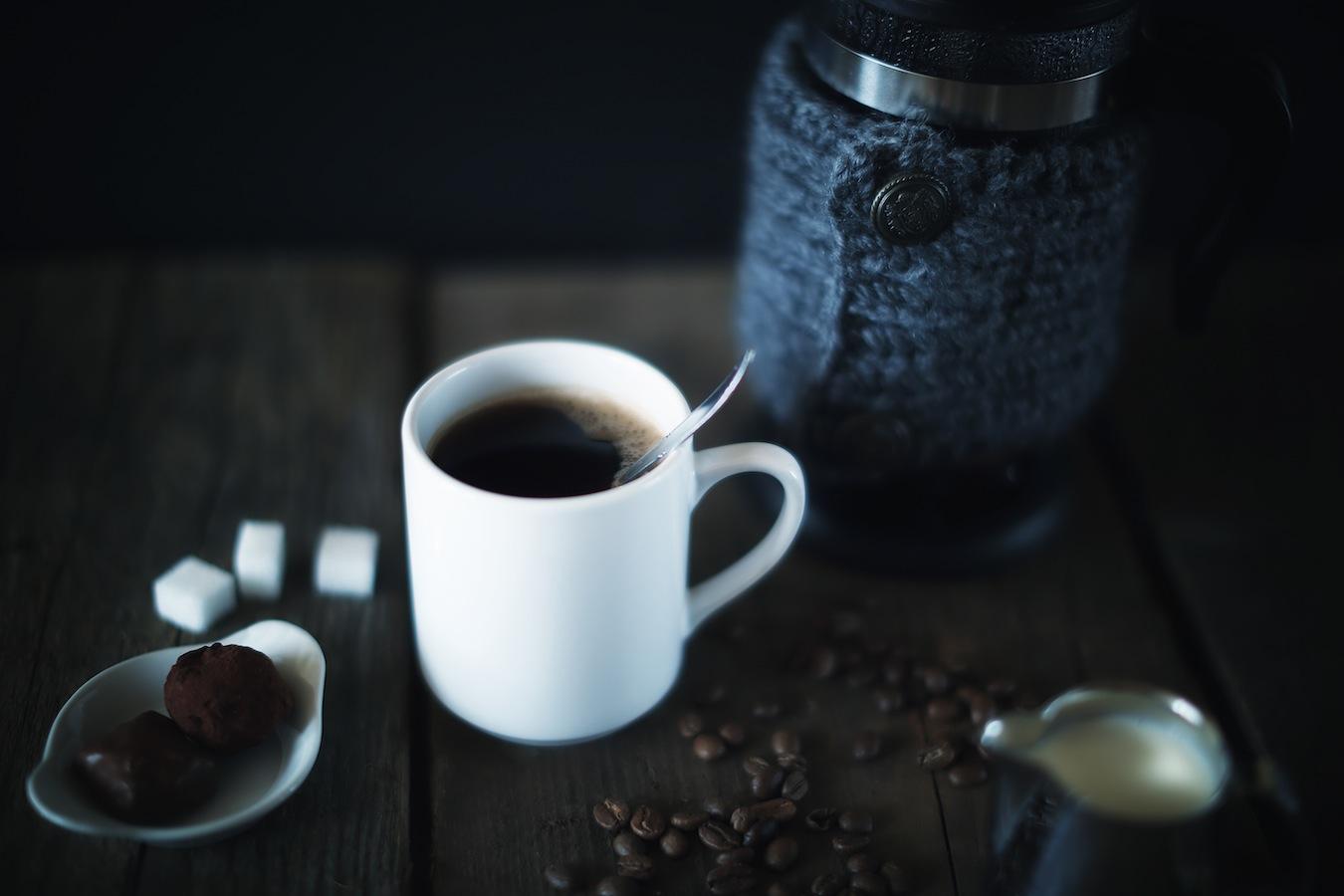 Kaffee und Nüsse